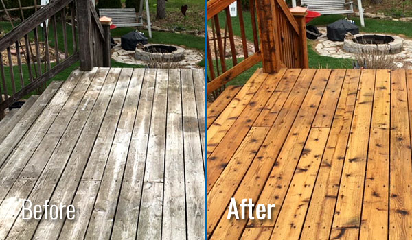 Fox Valley WI Wood Deck Cleaning, Restoration