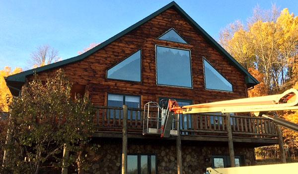 Fox Valley WI Log Home Wood Restoration