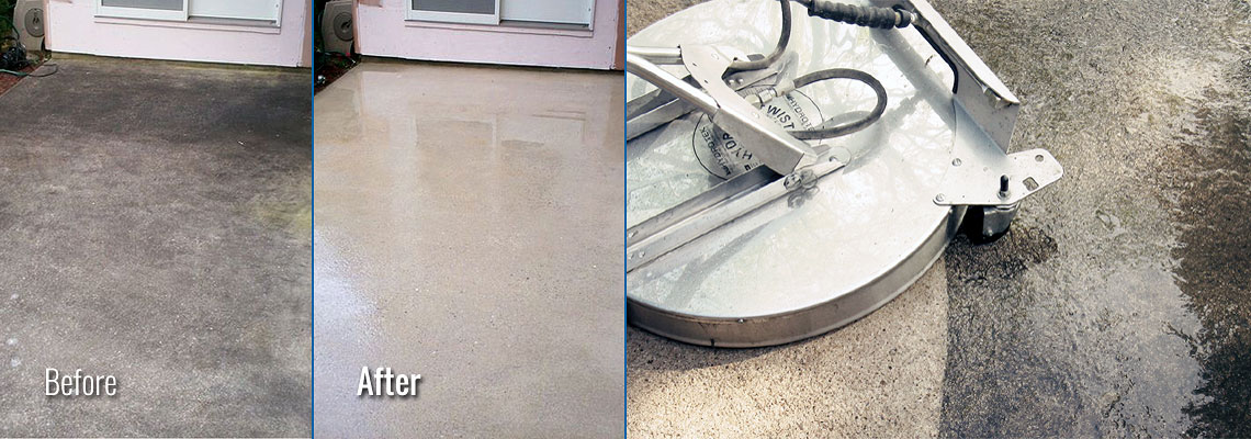 Fox Valley WI Concrete Patio Pressure Washing
